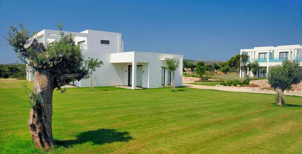 Vous séjournerez dans un hôtel au charme traditionnel grec mêlé à la modernité