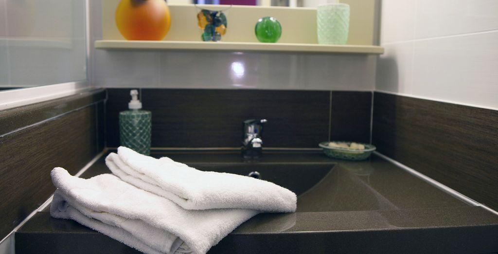 Découvrez la belle salle de bains...