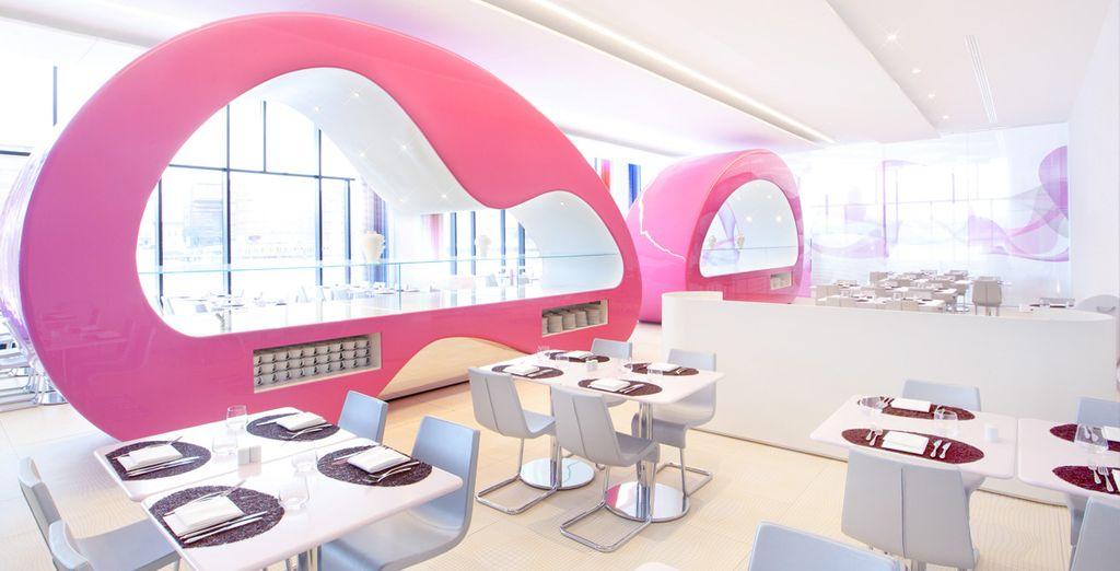 Déjeunez dans des espaces modernes