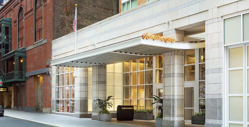 Posez vos valises à l'hôtel Hampton Inn Manhattan...