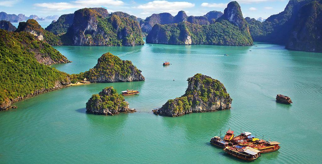 Puis vous prendrez la direction de la Baie d'Halong