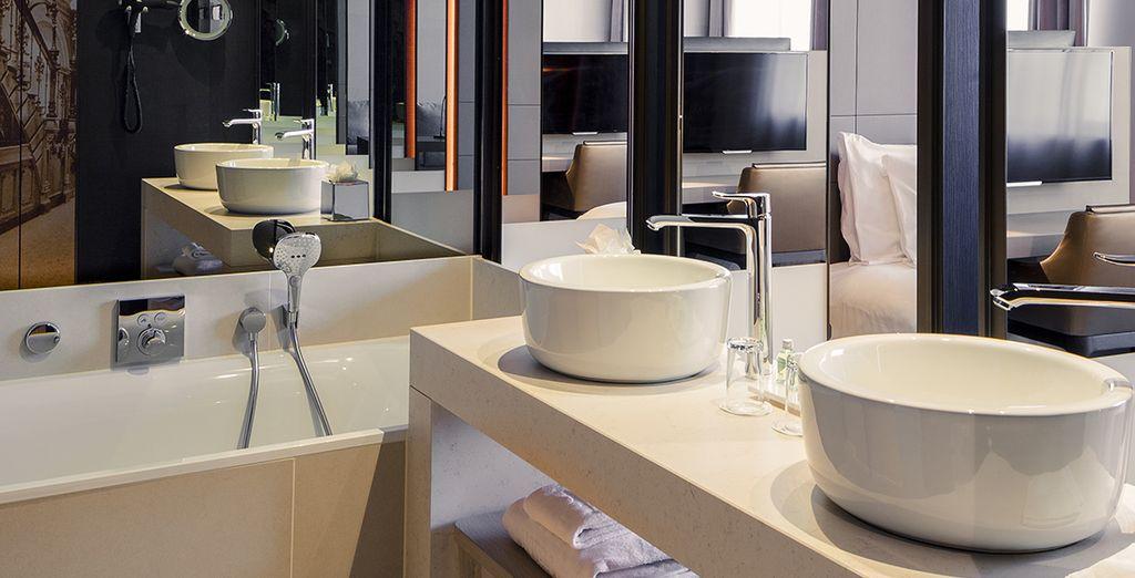 Dans une ambiance design et confortable