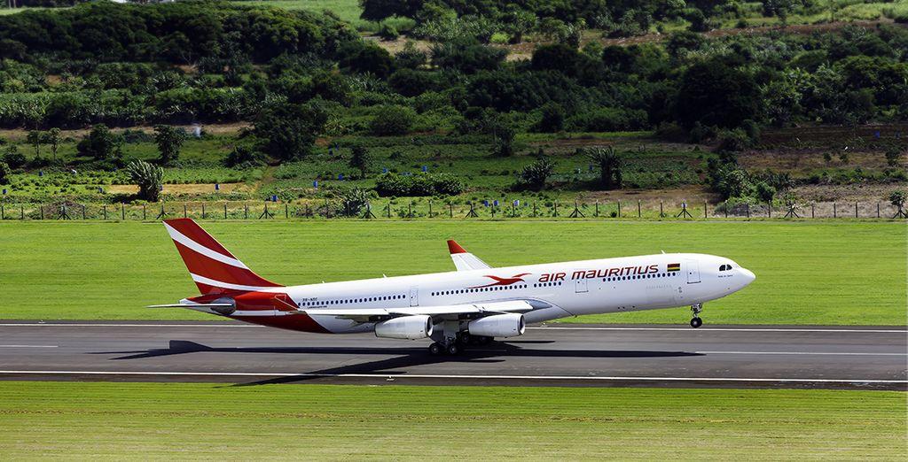Vous pourrez même choisir de vous envoler avec Air Mauritius pour un vol direct depuis Paris