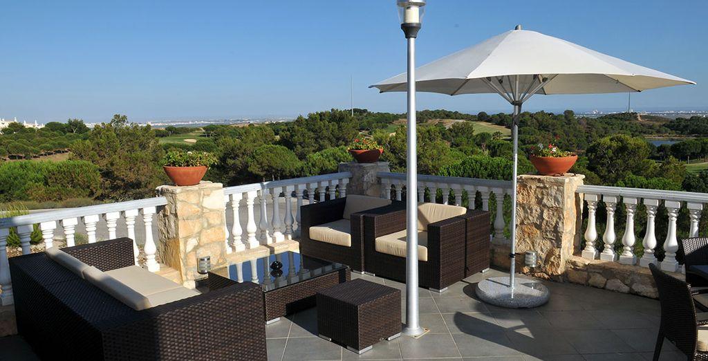 L'hôtel bénéficie d'une vue exceptionnelle sur l'Atlantique et le fleuve Guadiana
