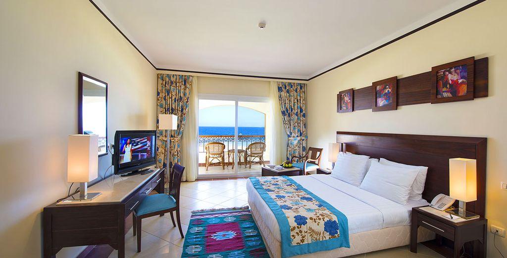 ou profiterez de la Vue Mer en chambre Famille ou en chambre Vue Mer proposée en option.