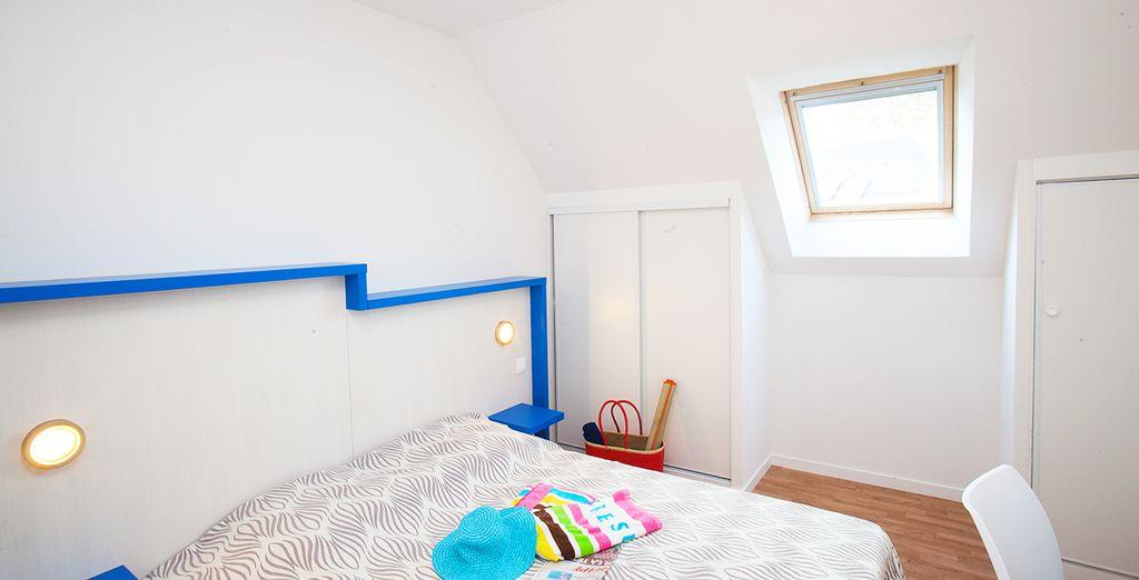 Des chambres épurées et agréables... L'essentiel pour des vacances réussies.