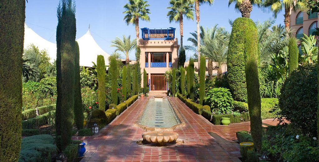 Au coeur de jardins au style arabo-andalou