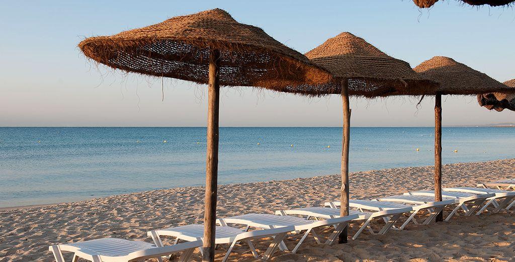 Et au bord d'une plage de sable