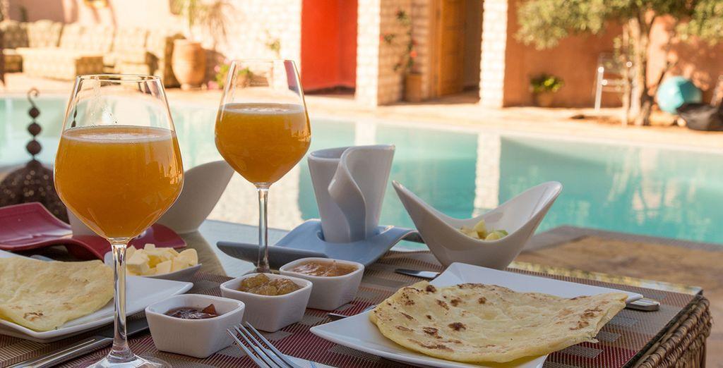 La journée commencera en beauté avec la formule petit déjeuner