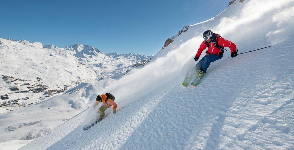 Profitez d'un cadre idéal dans le plus grand domaine skiable du monde