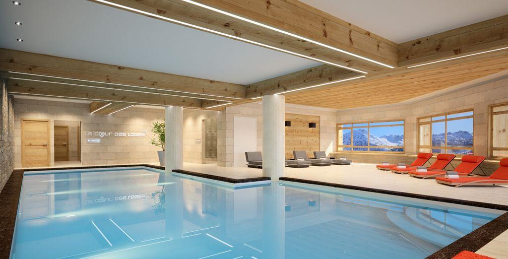 Après une journée au grand air, faîtes un tour à la piscine couverte ou au Spa de la résidence