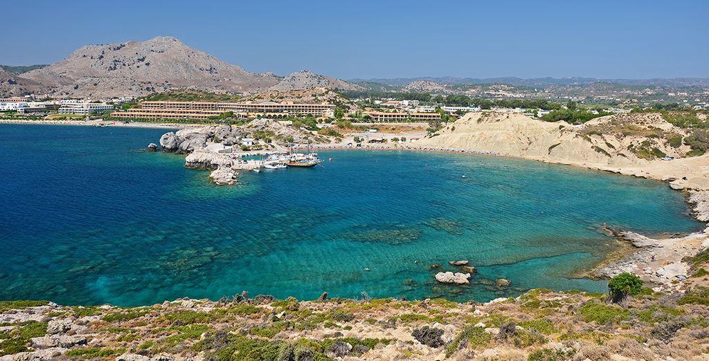 Vous serez idéalement situé à 300 mètres seulement de la plage de Kolymbia