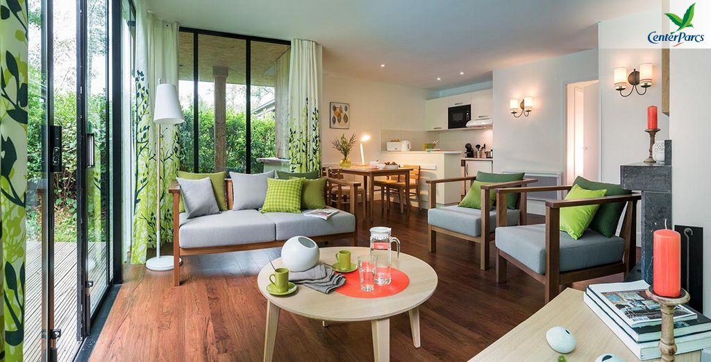 Hébergement confort au cœur du Center Parcs de Normandie