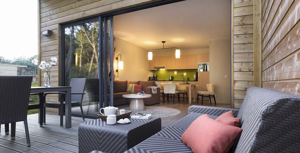 Et vous profiterez pleinement de la terrasse moderne
