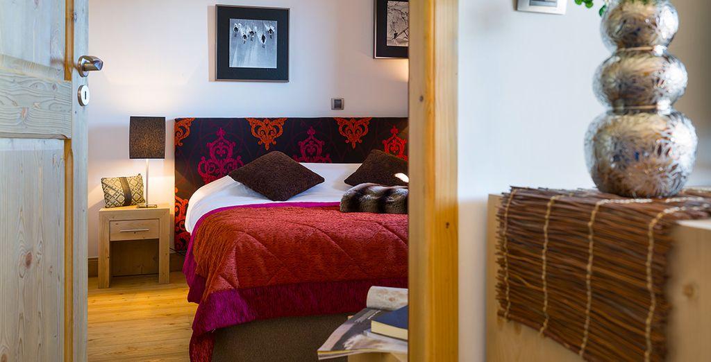 Appréciez l'ambiance cosy des chambres.