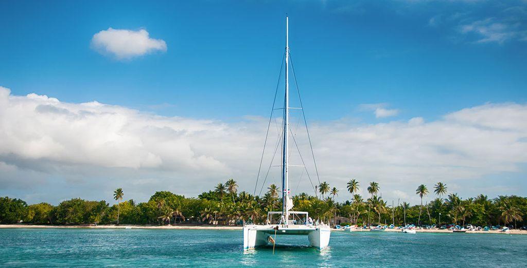 Partir en mer pour explorer Isla Saona ou Catalina