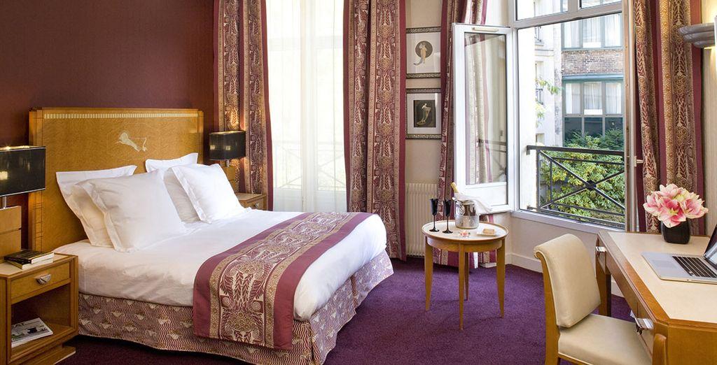 Hôtel romantique en plein centre de Paris