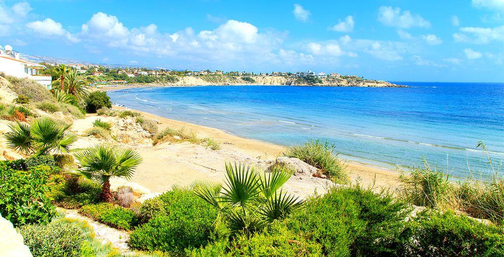 Photographie des magnifiques plages de Paphos à Chypre