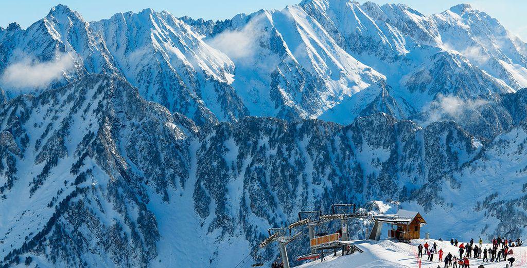 Paysages de la station de ski Cauterets