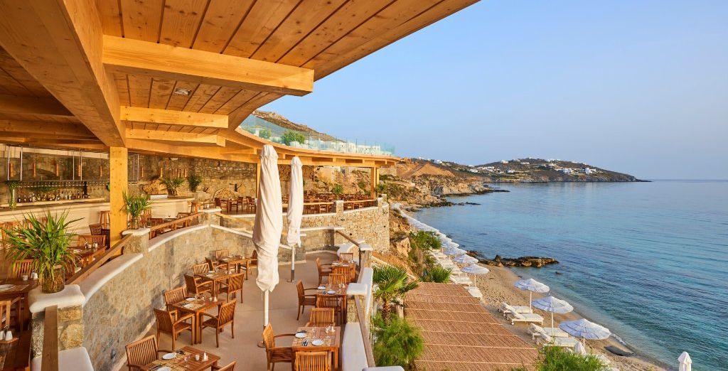 Les bains de soleil sur la terrasse...