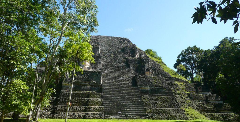 Et les immenses pyramides de Tikal