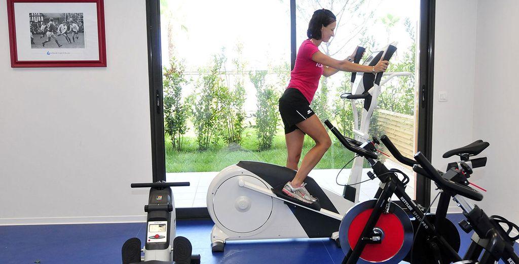 Profitez des installations de fitness pour garder la forme