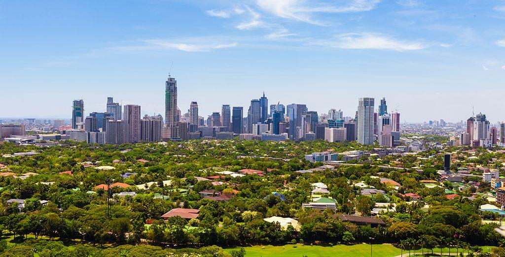 Photographie de la ville de Manille aux Philippines