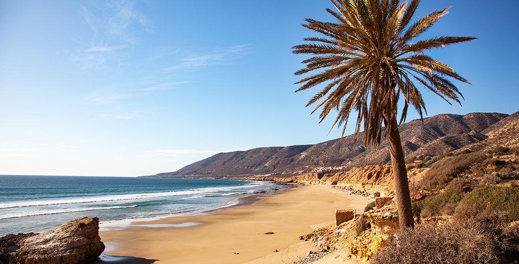 En novembre sur les plages d'Agadir