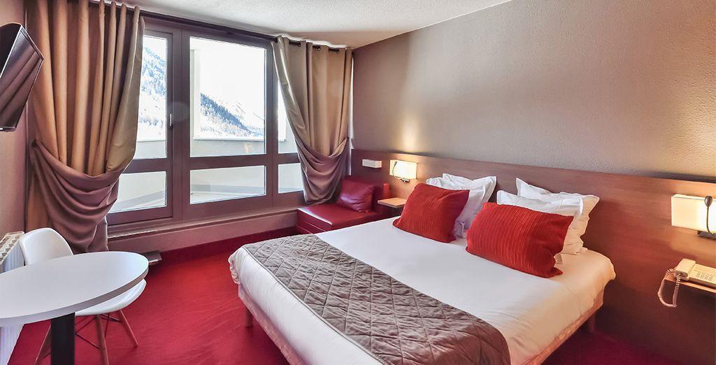 Hôtel tout confort avec lit double à la station Isola 2000 pour des vacances à la montagne inoubliable