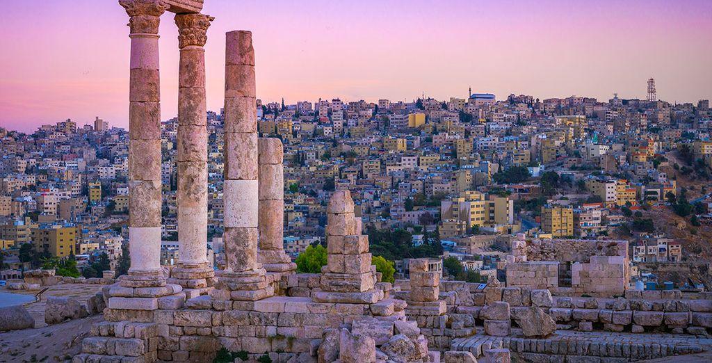 Photographie de la ville de Amman en Jordanie