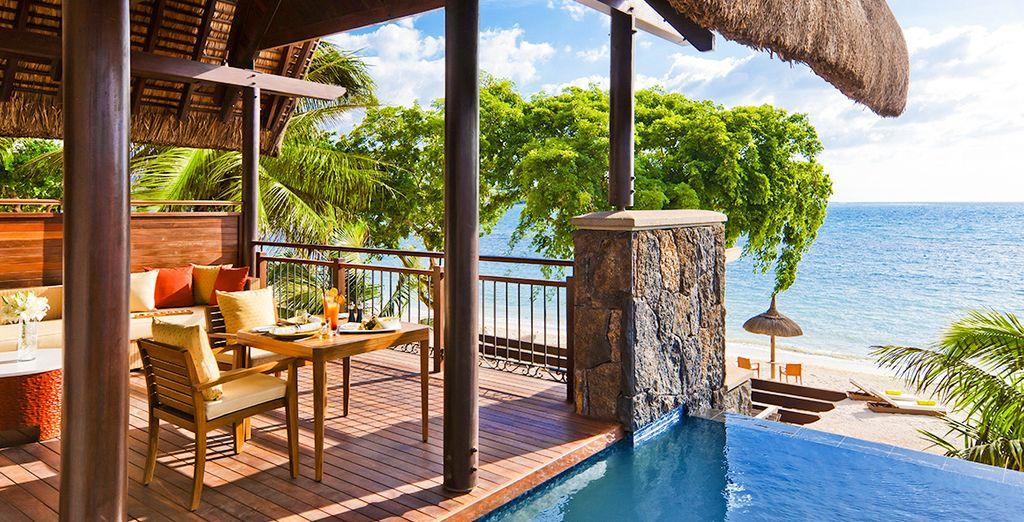 Hôtel Angsana Balaclava 5* haut de gamme avec vue sur l'océan Indien et espace détente