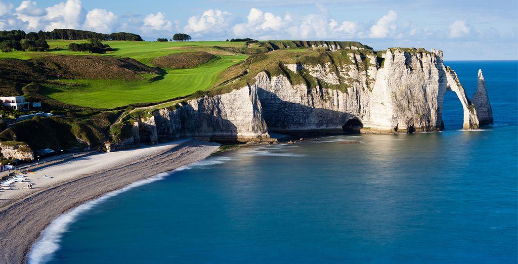 Paysages de Normandie et côtes rocheuses