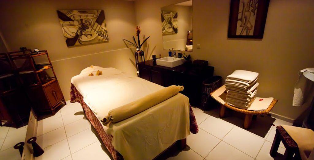 et profitez d'un massage. Bonnes vacances !