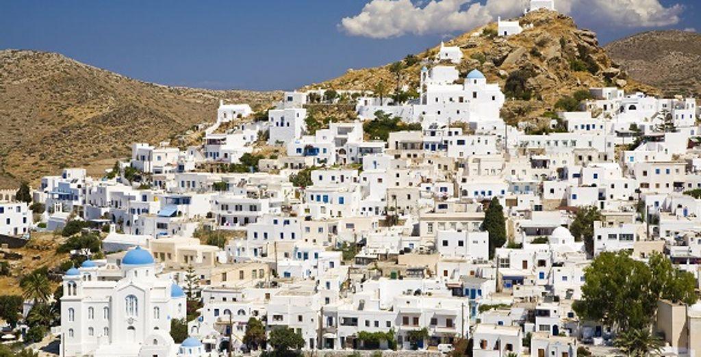 Un village de l'île de l'île d'Ios