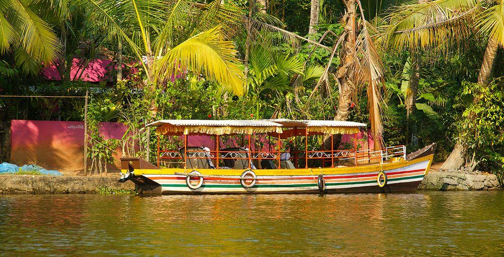 Vous vivrez une expérience authentique dans les backwaters