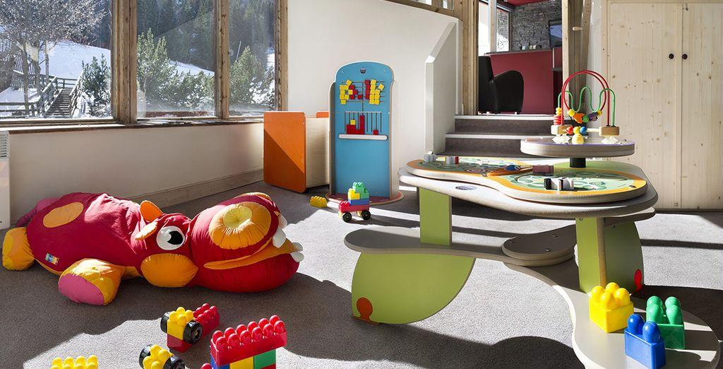 Pendant que les enfants s'amuseront dans l'espace dédié