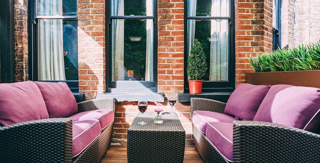 Et faites une pause sur la terrasse