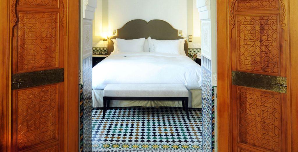 La Suite Grand Vizir, elle, offre un grand espace avec 105 m²