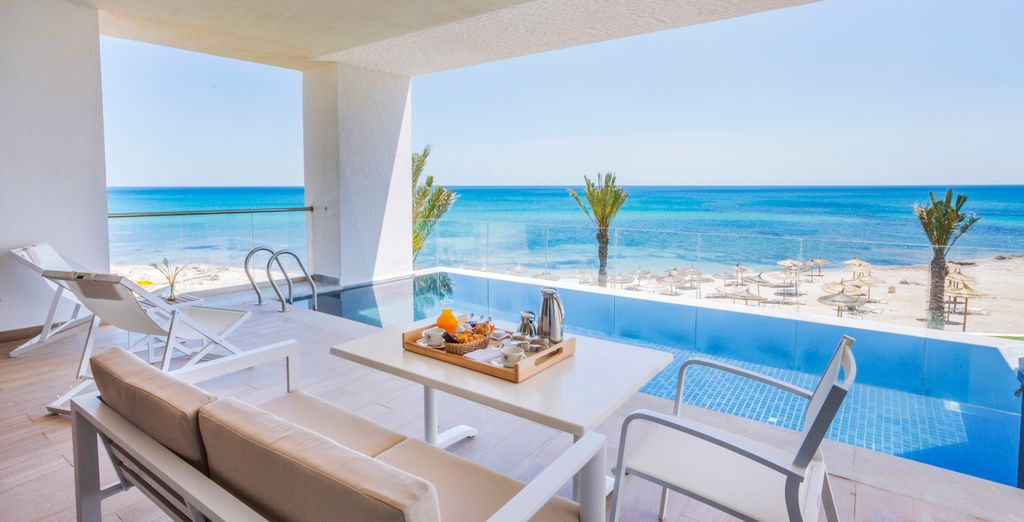 Hôtel de charme avec piscine privative et vue sur les belles plages de Hammemet