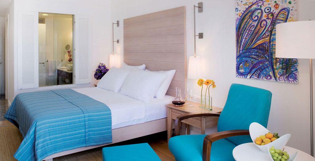 Ou la chambre Luxury, offrant une vue mer
