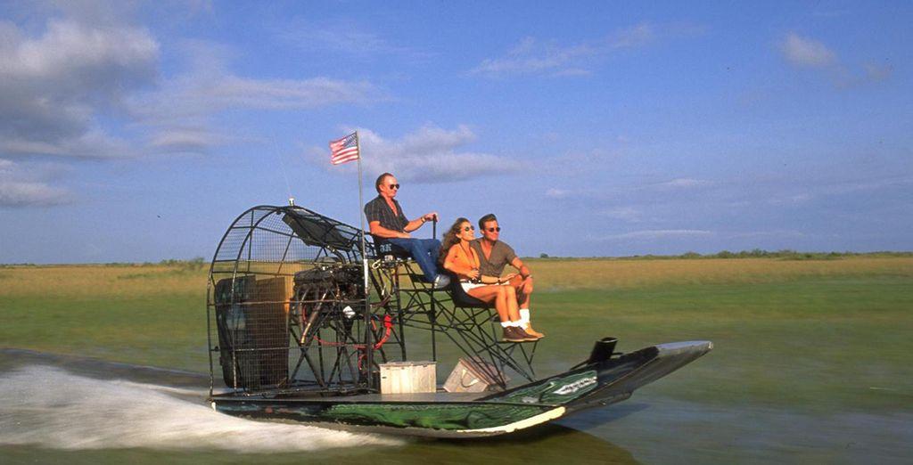 Vous visiterez les Everglades avec Airboat...