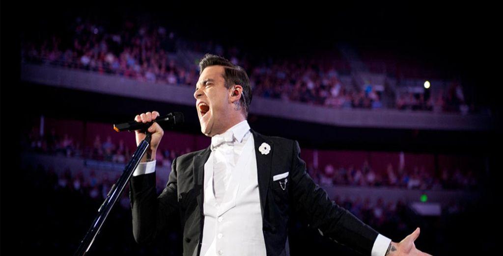 Faites-vous plaisir et offrez-vous un concert mémorable, de Robbie Williams - Hôtel Jalta 5* & Robbie Williams, Guns'N'Roses ou Ennio Morricone Prague