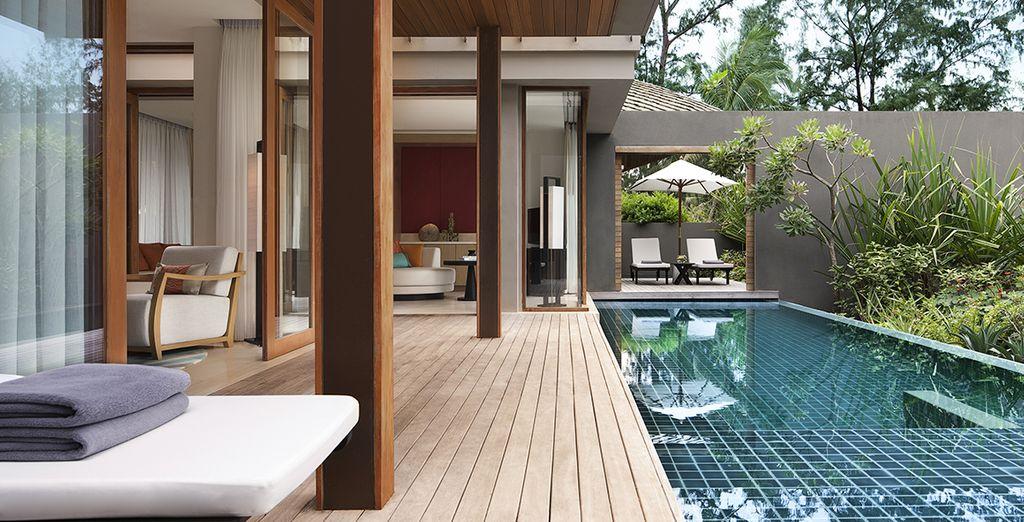 Vous vous installerez en Pool Villa