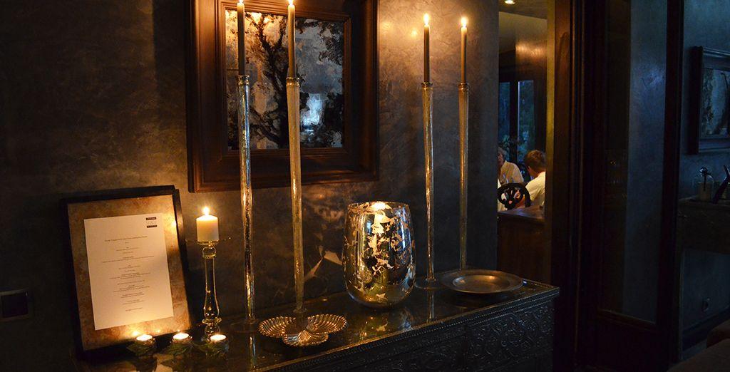 Une décoration aux touches élégantes et luxueuses...