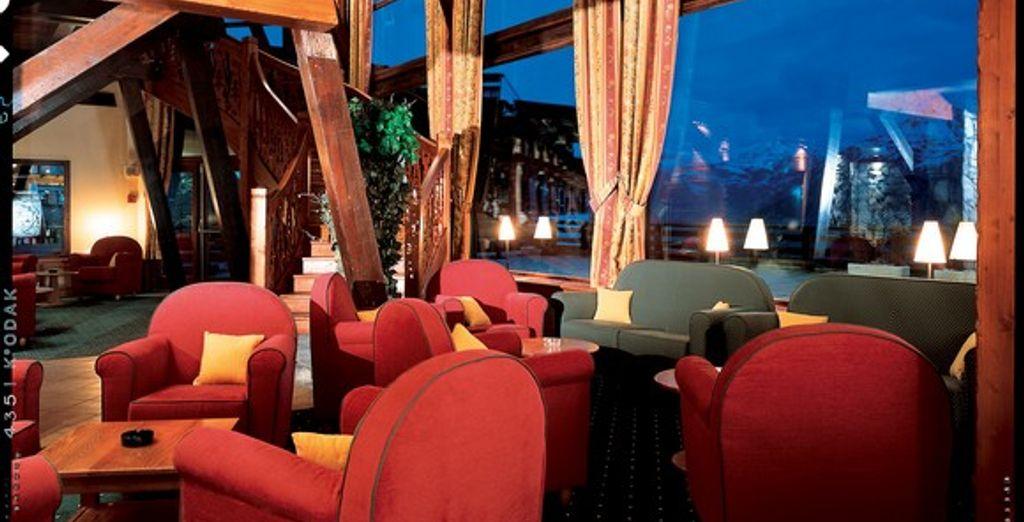 Le salon - Hôtel La Cachette *** Les Arcs 1600