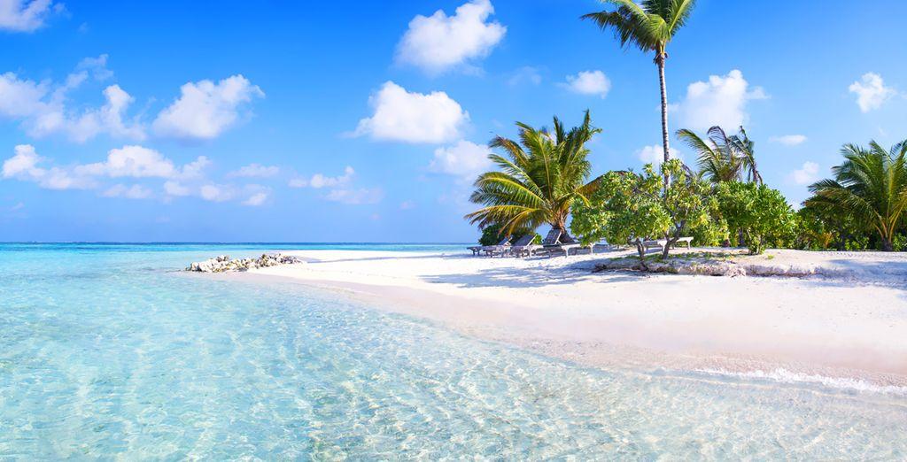 Les plages de sable blanc d'Hulhumale
