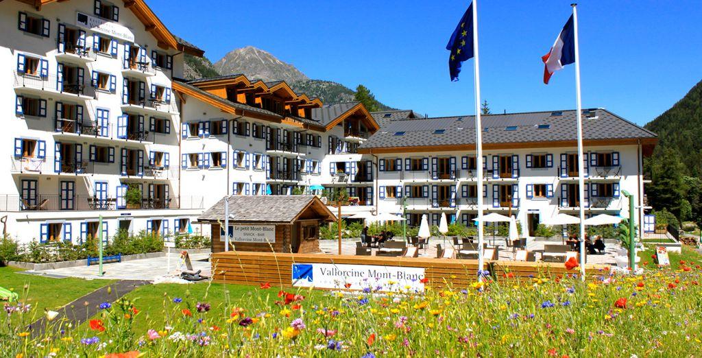 La résidence & spa Vallorcine Mont Blanc vous accueille...