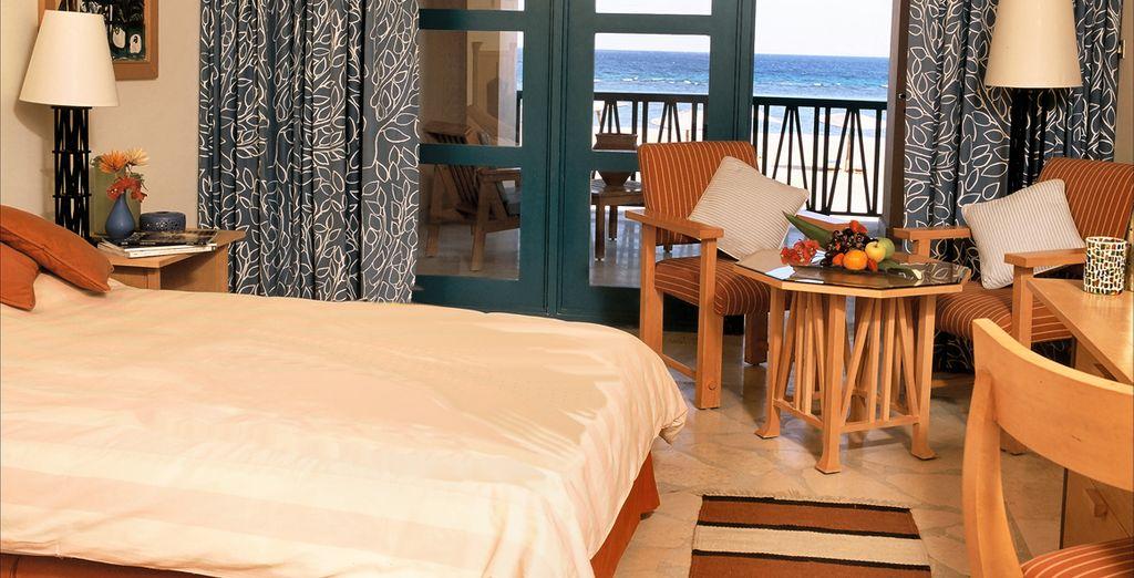 Contemplez la mer depuis votre chambre Sea View