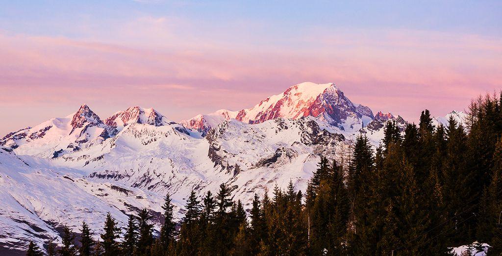 Vous aurez depuis la résidence une sublime vue sur le Mont Blanc.