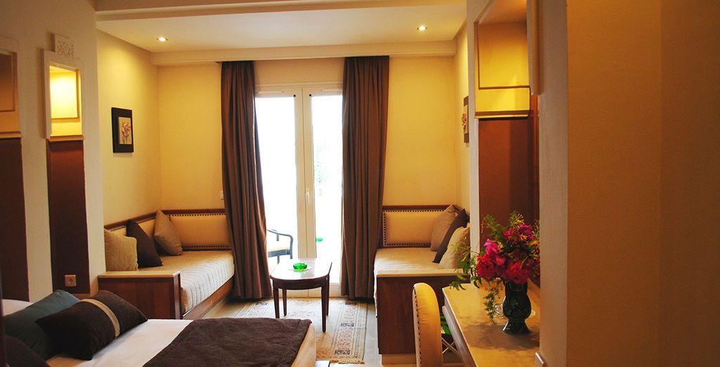 Les chambres sont élégantes et confortables. Ici, votre chambre Standard